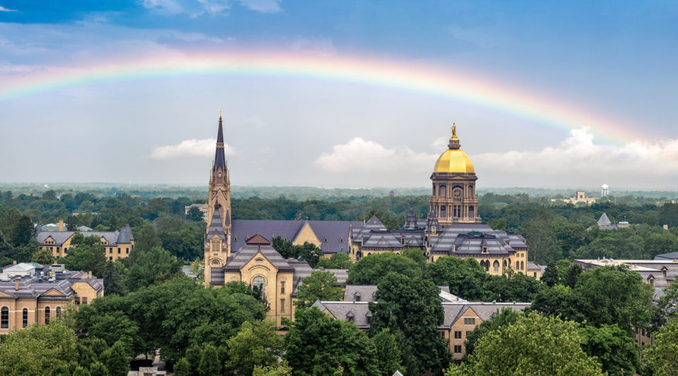 Rainbow over the Basilica and the Golden Dome