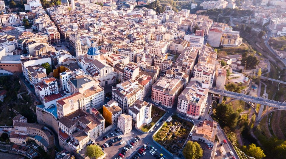 Aerial of Alcoy, Spain