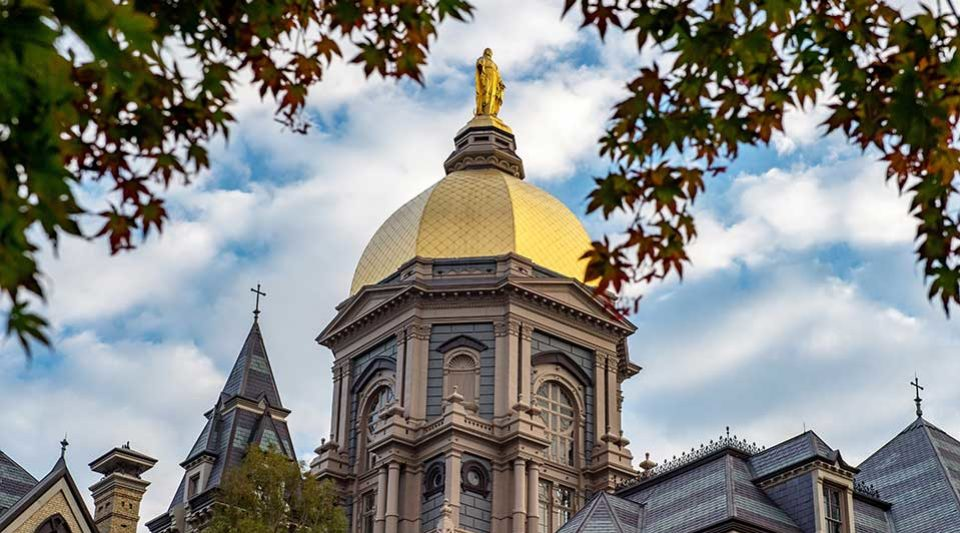 The Golden Dome atop the Main Building at sunrise