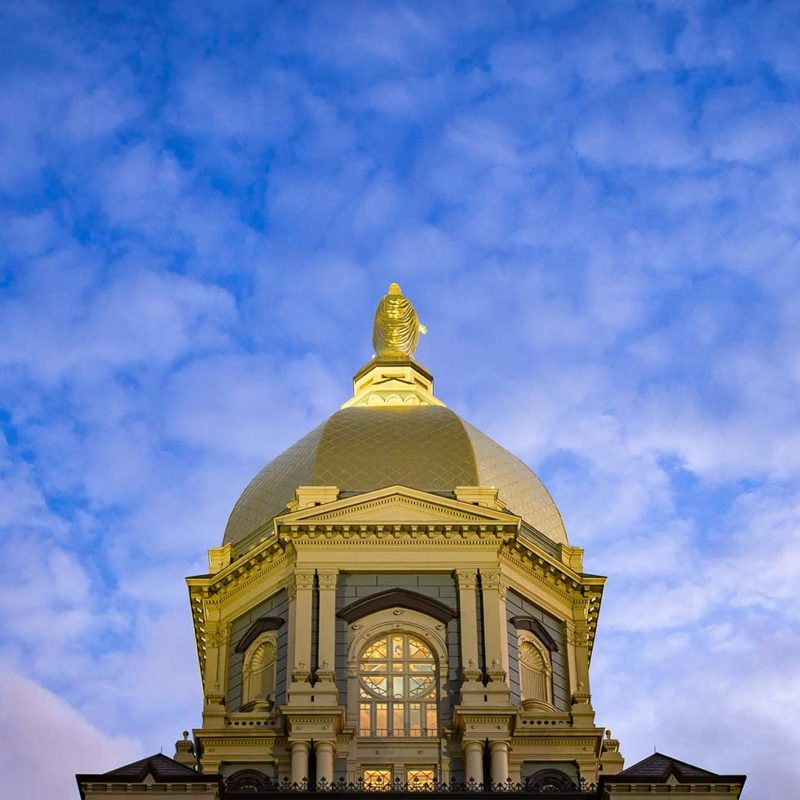 Looking up at the Golden Dome