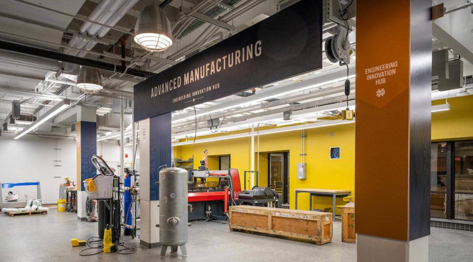 Engineering Innovation Hub. (Photo by Barbara Johnston/University of Notre Dame)
