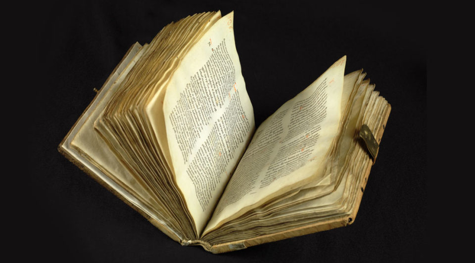 Copy of Old Testament books, primarily with Jerome's prologues: Proverbs (pp. 5-37), Ecclesiastes (pp. 37-49), Song of Songs (pp. 49-55), Wisdom (pp. 55-78), Sirach (pp. 78-141), Job (pp. 141-180), Tobias (pp. 180-195), Judith (pp. 195-214), Esther (pp. 214-232). Contains several initials with scroll ornamentation in red ink (pp. 7, 8, 141, 143, 180, 181). (sno)